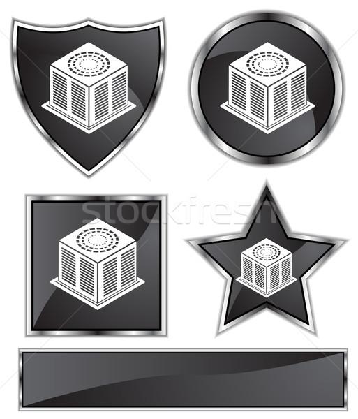черный атласных набор 3D хром Сток-фото © cteconsulting