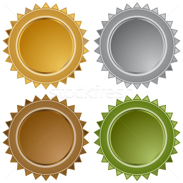 Metal Star Seals Stock photo © cteconsulting