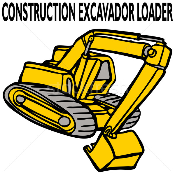 Construction Excavator Loader Stock photo © cteconsulting
