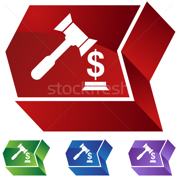 Procès icônes design signe bleu Photo stock © cteconsulting