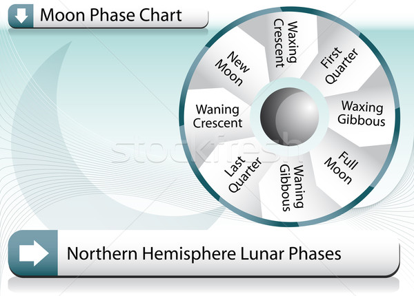 Moon Phase Chart Stock photo © cteconsulting