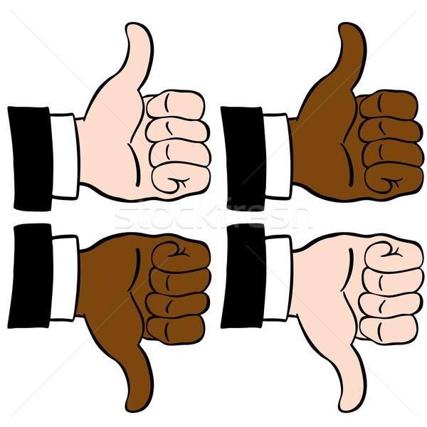 Thumbs Set Stock photo © cteconsulting