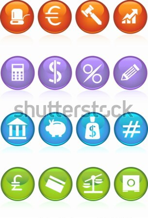 Banking Buttons - Light Blue Stock photo © cteconsulting