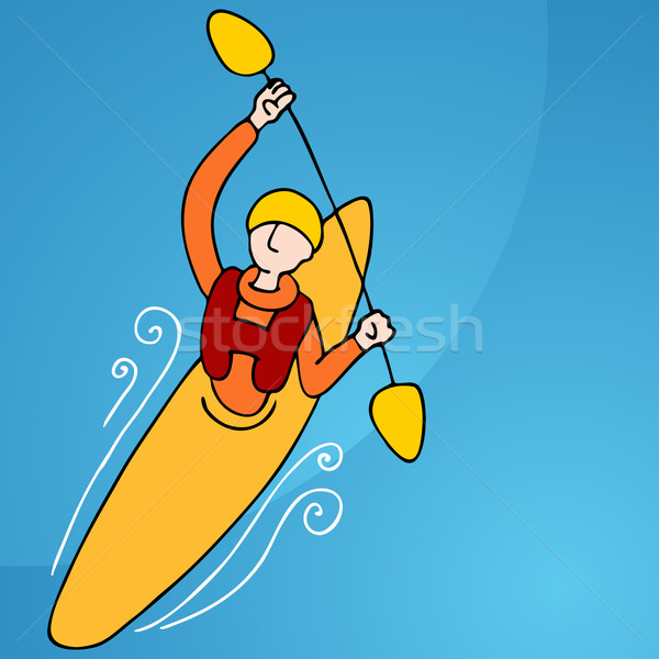 Rowing Kayak Man Stock photo © cteconsulting