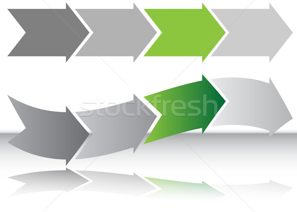 Long Green Arrow Chart Stock photo © cteconsulting