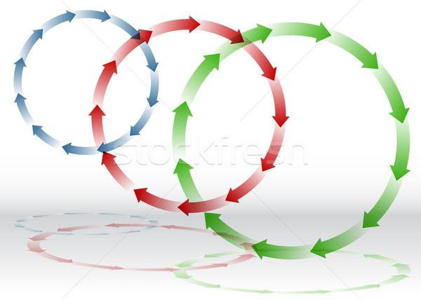 Seta reciclagem imagem arte verde azul Foto stock © cteconsulting