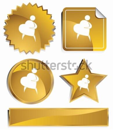 Goldish - Baseball Player Stock photo © cteconsulting