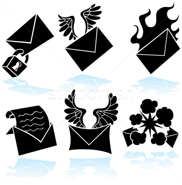 Email Icons Stock photo © cteconsulting