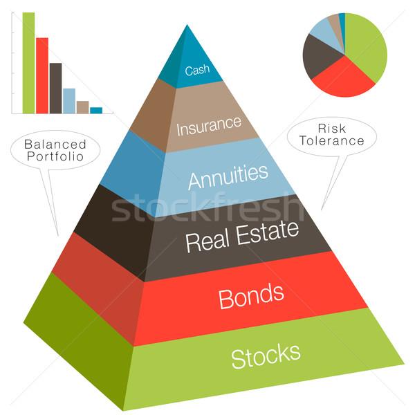 3D inversión pirámide imagen negocios blanco Foto stock © cteconsulting