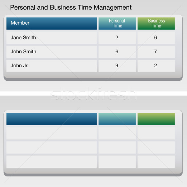 Time Management Chart Stock photo © cteconsulting
