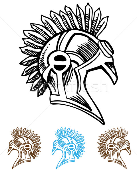 Mohawk Helmet Stock photo © cteconsulting