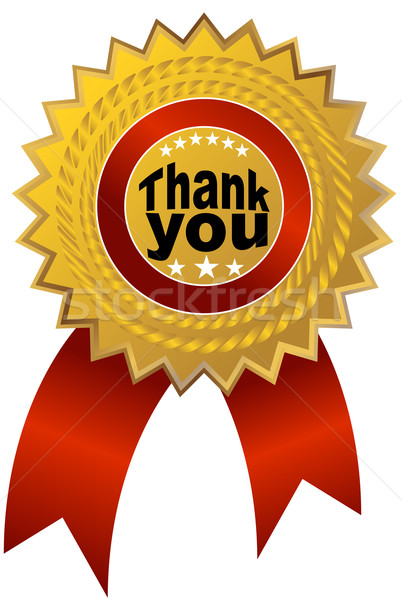 Stock photo: Thank You Ribbon