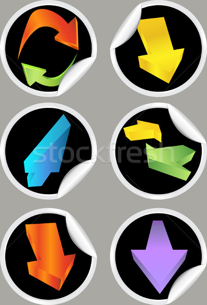 Directional Arrow Stickers Stock photo © cteconsulting