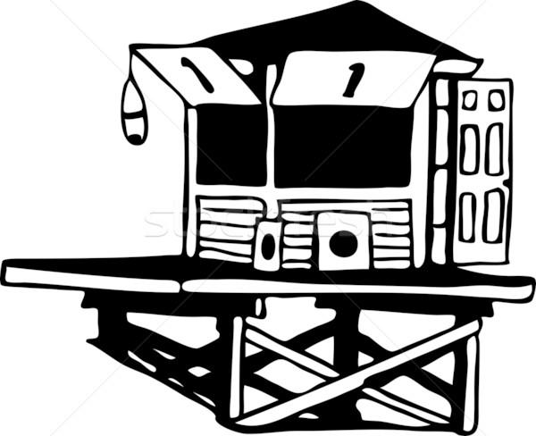 ライフガード 塔 手描き 画像 ビーチ 海 ストックフォト © cteconsulting