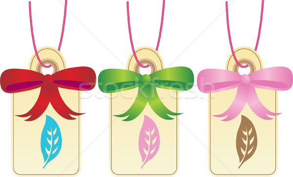 Christmas Gift Tags - Leaf Stock photo © cteconsulting