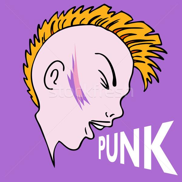 панк характер изображение искусства молодые женщины Сток-фото © cteconsulting