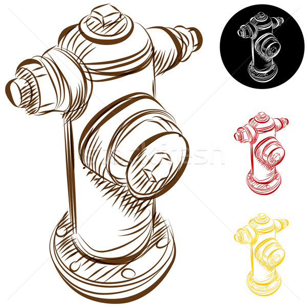 Fire Hydrant Drawing Stock photo © cteconsulting