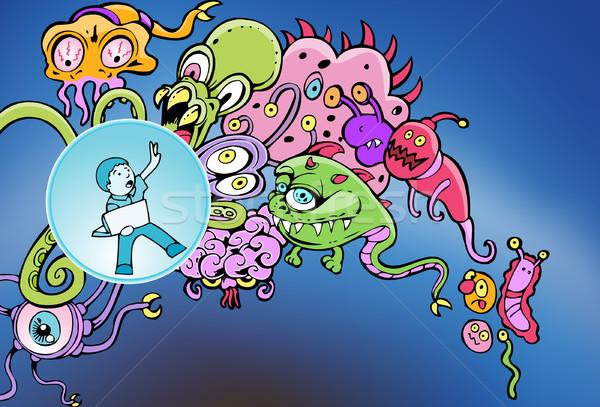 киберпространство вирус атаковать ноутбука пользователь защищенный Сток-фото © cteconsulting