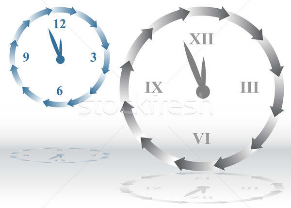 Arrow Clock Stock photo © cteconsulting