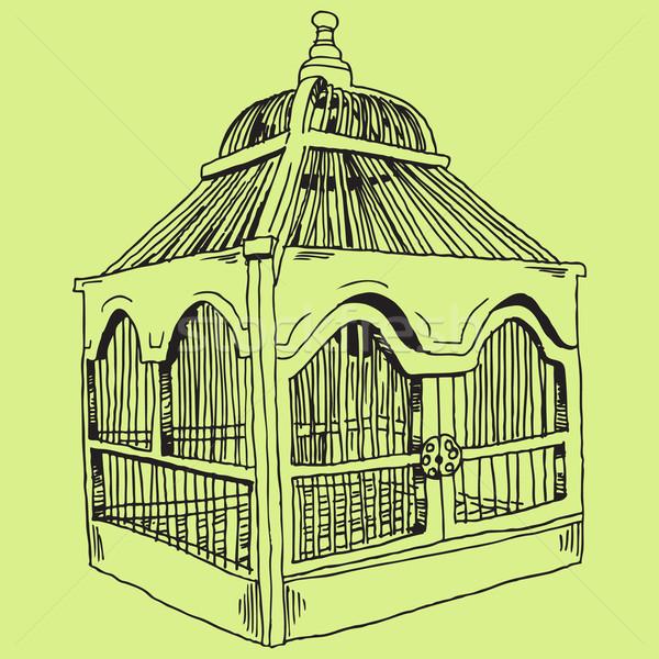 Birdcage Sketch Stock photo © cteconsulting