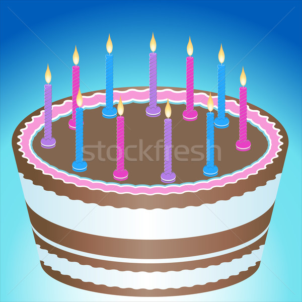 Birthday Cake and Candles Stock photo © cteconsulting