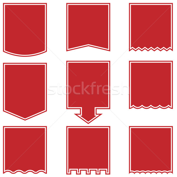 Flag Drop Buttons - Red Stock photo © cteconsulting