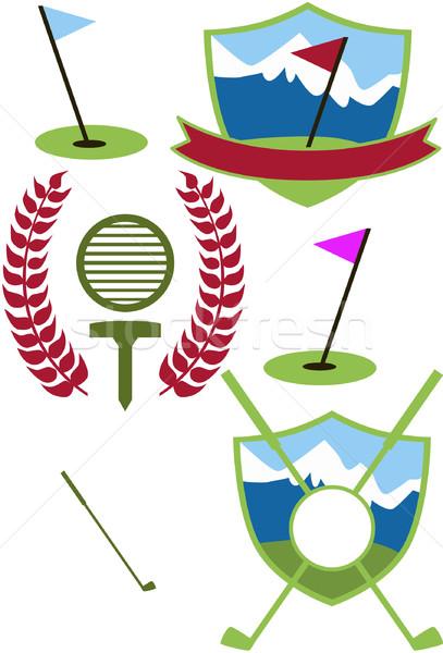 Golf szett fű sport terv háttér Stock fotó © cteconsulting