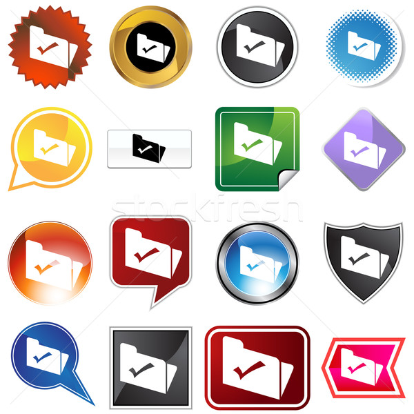 Dossier image fichier vérifier ordinateur Photo stock © cteconsulting