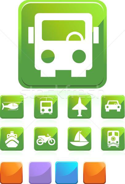 Zdjęcia stock: Transport · przyciski · placu · zestaw · internetowych · stylu