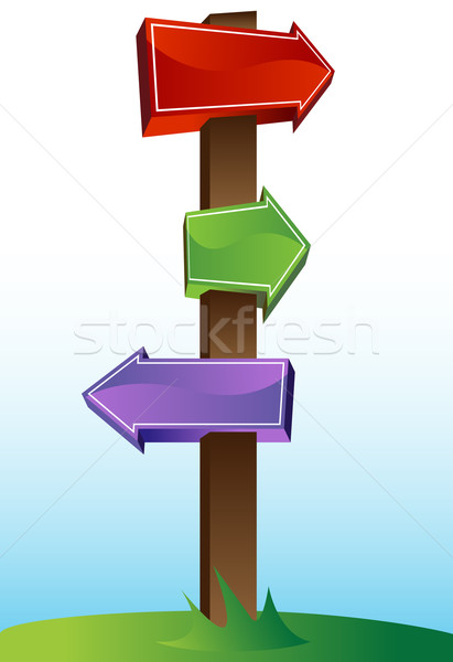 Crossroads Sign Stock photo © cteconsulting