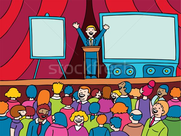 Public speaking Illustrations and Clip Art April 2018