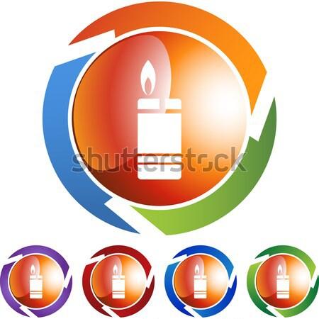 Isqueiro imagem fogo alto chama líquido Foto stock © cteconsulting