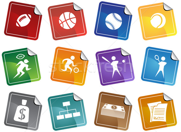 Sports Buttons - sticker Stock photo © cteconsulting
