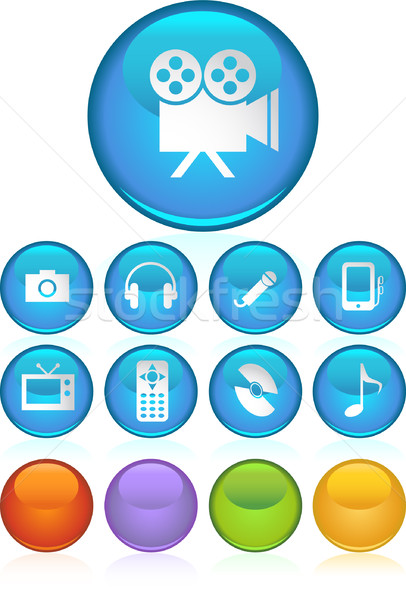Multimedia Buttons Stock photo © cteconsulting