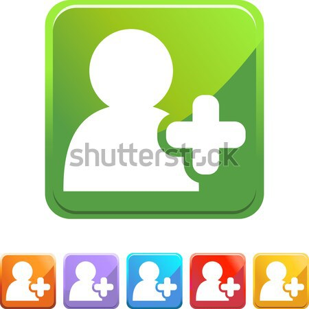 Add Friend Crystal Icon Stock photo © cteconsulting