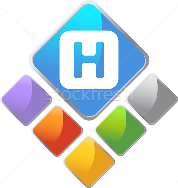 Hospital Square Icon Stock photo © cteconsulting