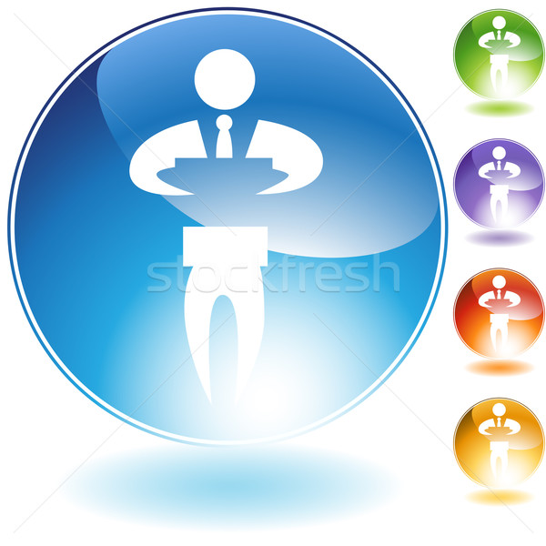 Sign Businessman Crystal Icon Stock photo © cteconsulting