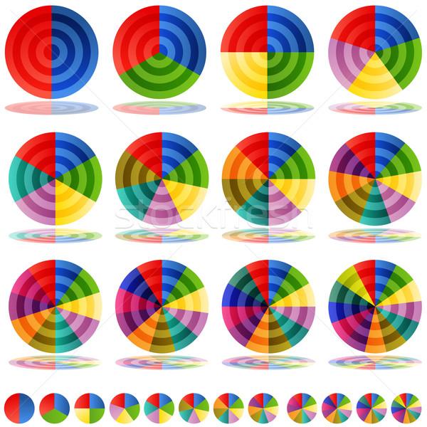 Pie Chart Target Icon Set Stock photo © cteconsulting