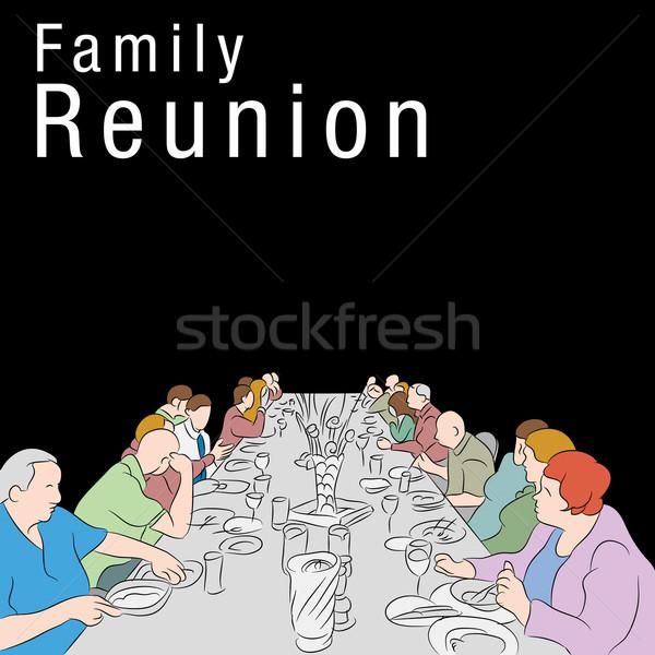 家族 再会 食事 画像 グループの人々  食べ ストックフォト © cteconsulting