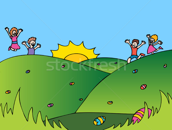イースターエッグハント 子供 イースター 卵 少女 ストックフォト © cteconsulting