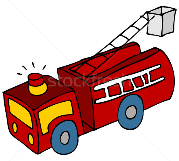 Fire Truck Vector Illustration C John Takai Cteconsulting