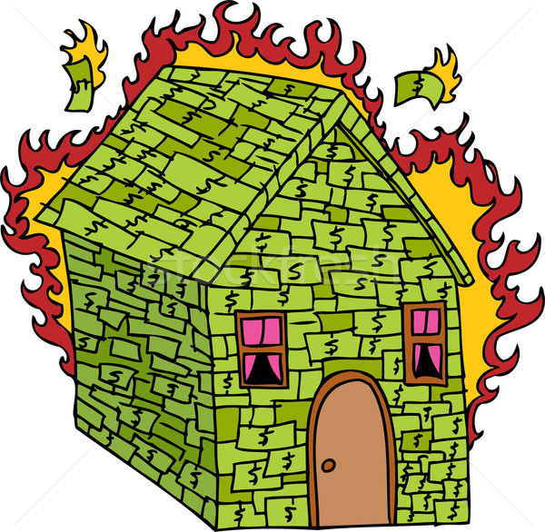 Burning Money House Stock photo © cteconsulting