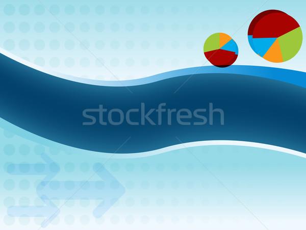 Pie Graph Business Chart Slide Stock photo © cteconsulting