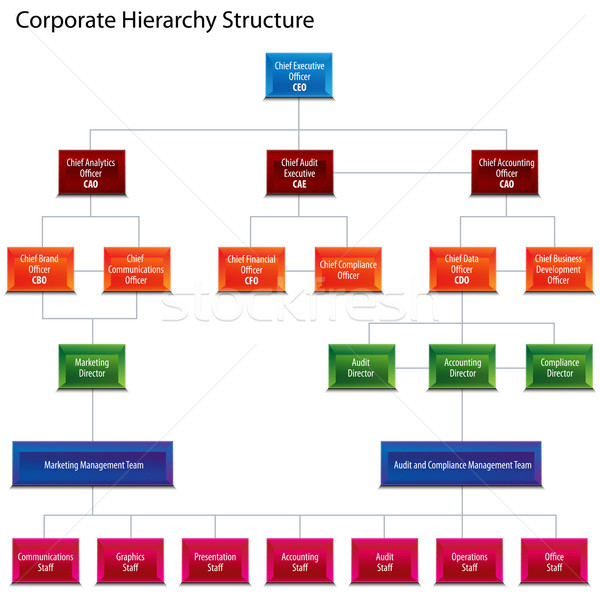 Corporate Hierarchy Structure Chart Stock photo © cteconsulting