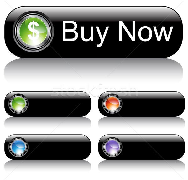 Schwarz Set Text grünen bar Stock foto © cteconsulting