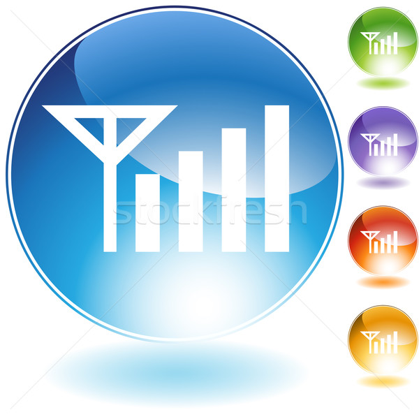 Signal Strength Crystal Icon Stock photo © cteconsulting