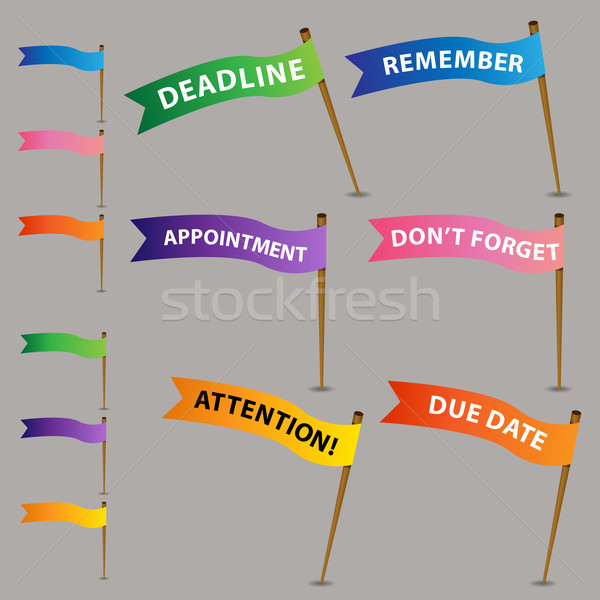 Reminder Flag Icons Stock photo © cteconsulting