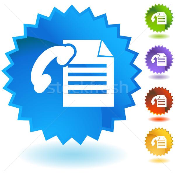 ファックス 文書 セット アイコン 紙 電話 ストックフォト © cteconsulting