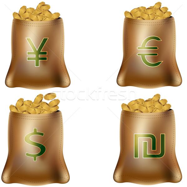 International Money Bags Stock photo © cteconsulting