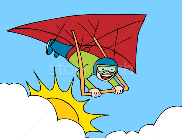Hang Gliding Adventure Stock photo © cteconsulting